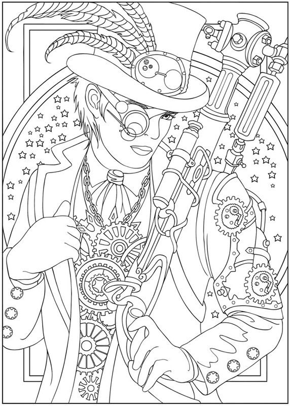 Steampunk Coloring Pages - Steampunk Free Colouring Pages