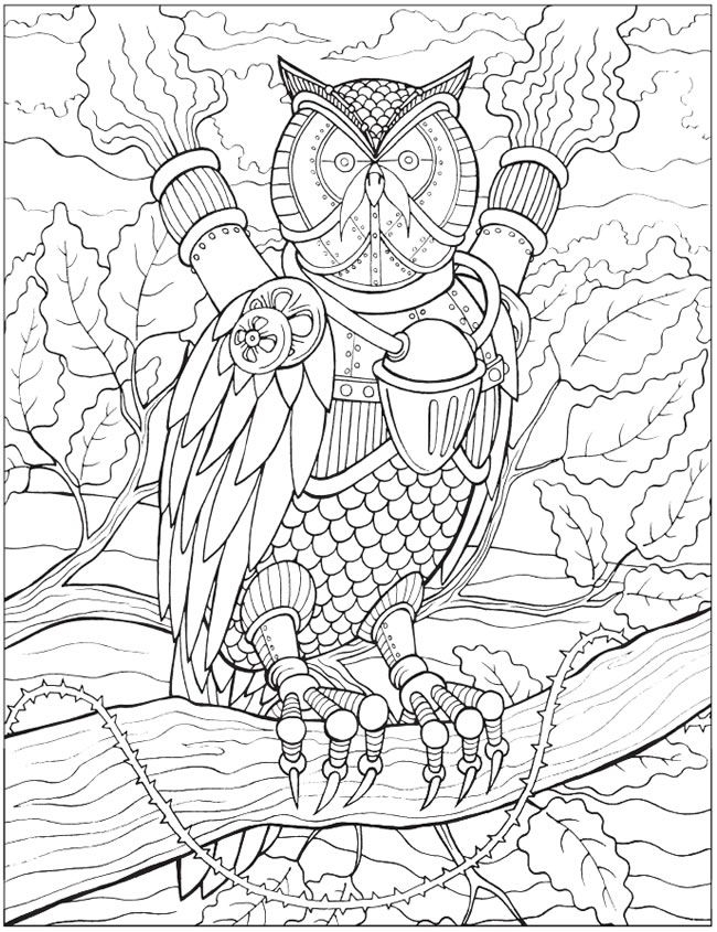 27 Steampunk Coloring Pages Printable