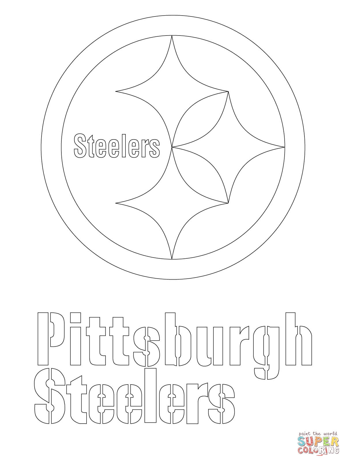 steelers coloring pages - pittsburgh steelers logo