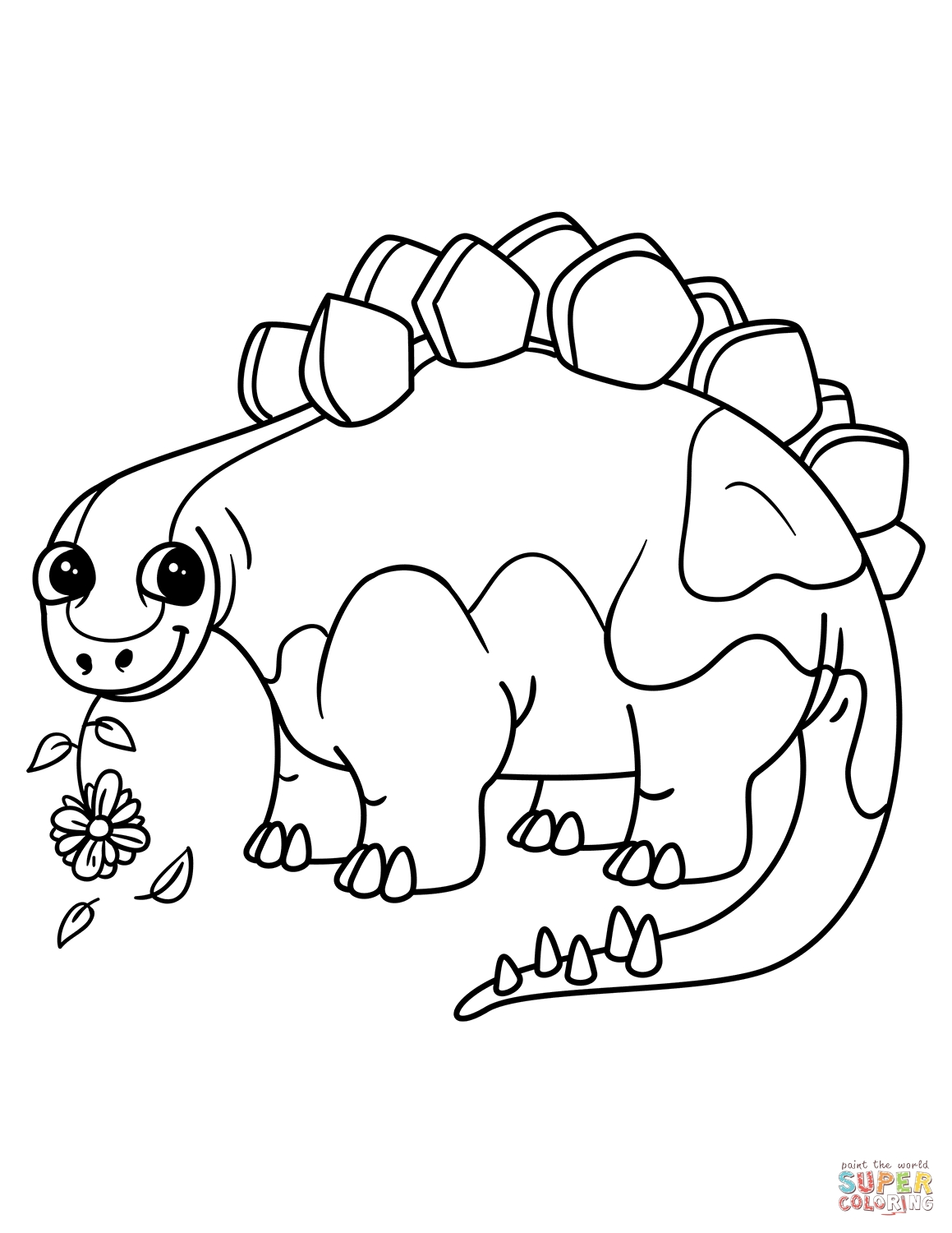 20 Stegosaurus Coloring Page Printable | FREE COLORING PAGES - Part 3