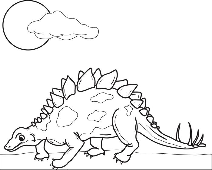 Stegosaurus Coloring Page - Stegosaurus Free Colouring Pages