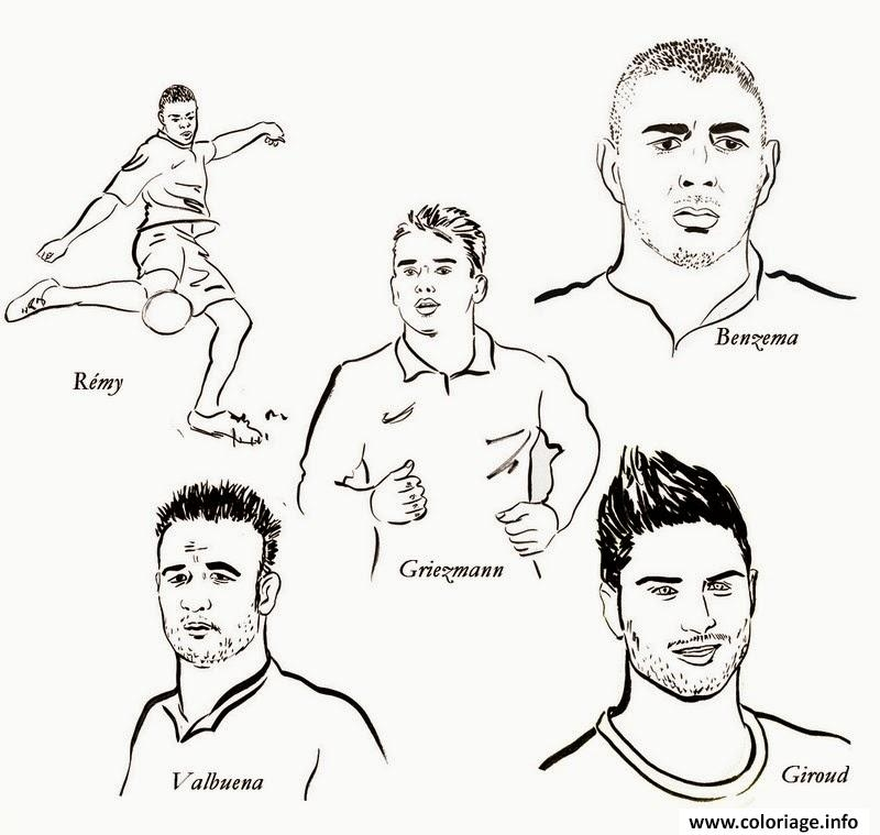 stephen curry coloring pages - foot karimbenzema griezmann remy giroud valbuena coloriage dessin