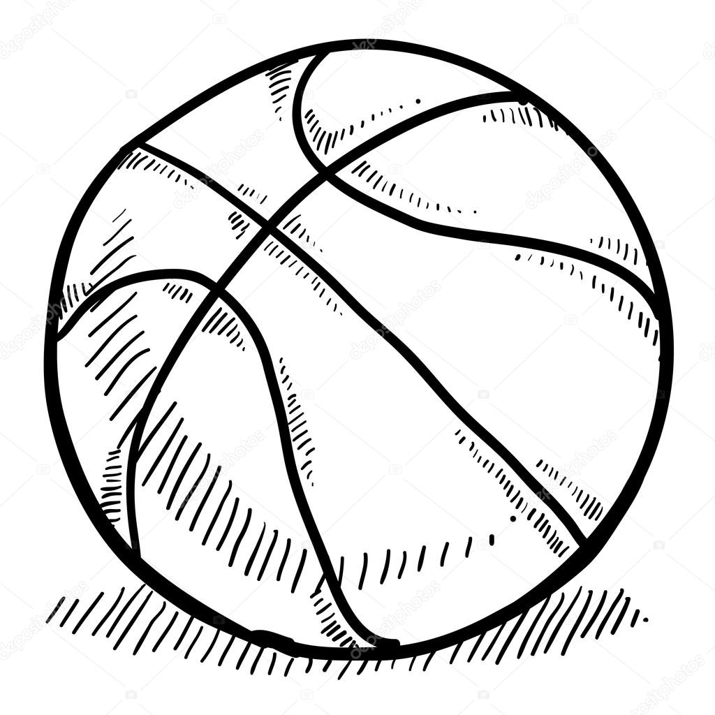 stephen curry coloring pages - stock illustration basketball sketch