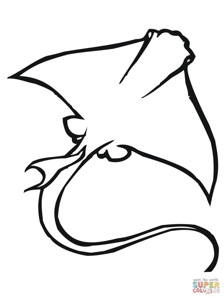 27 Stingray Coloring Page Collections | FREE COLORING PAGES - Part 3