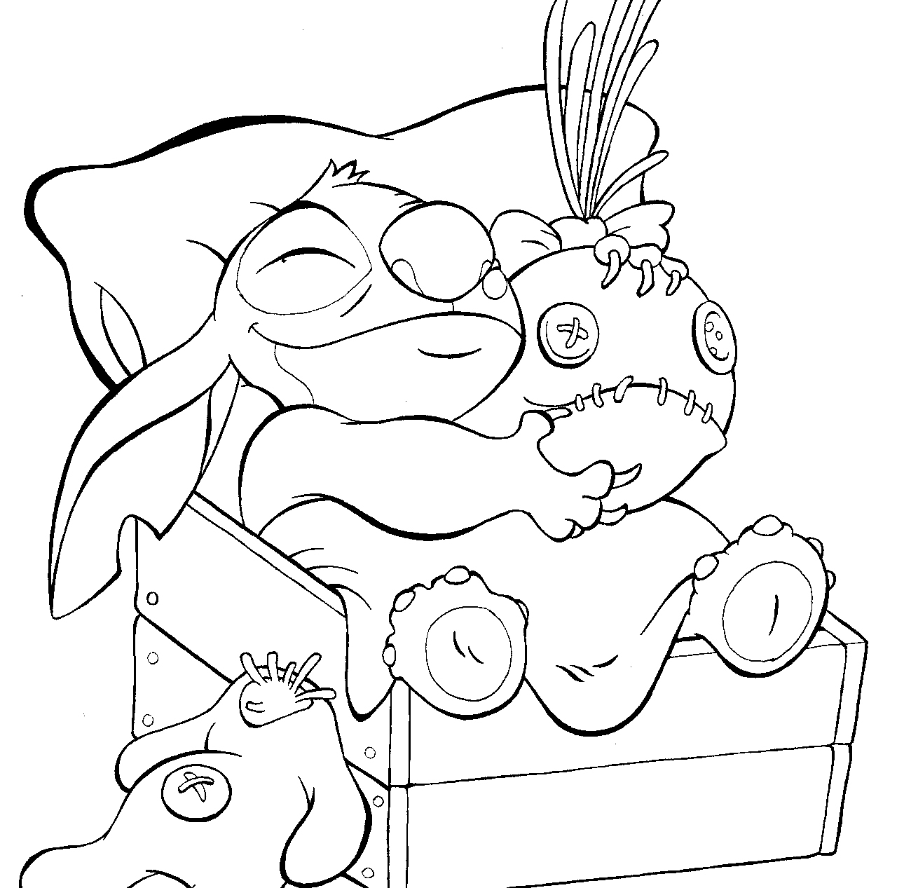stitch coloring pages - lilo stitch