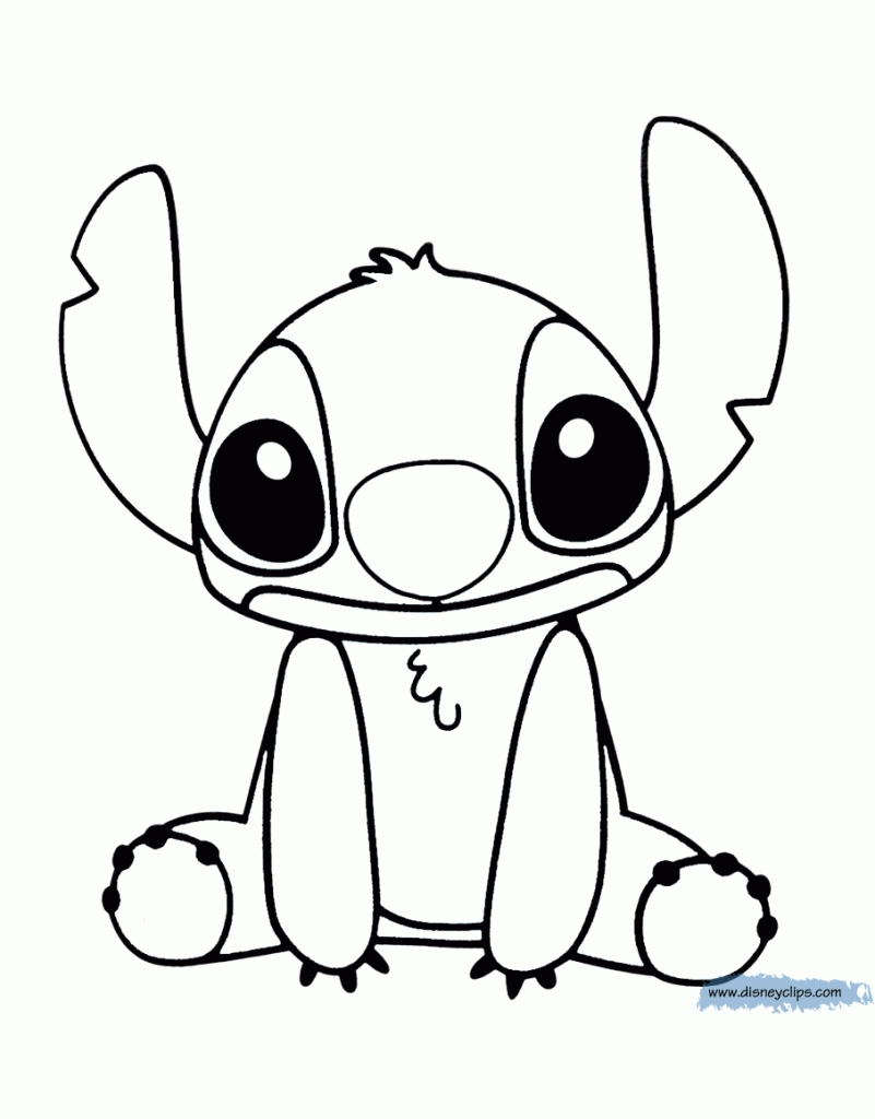 stitch coloring pages -