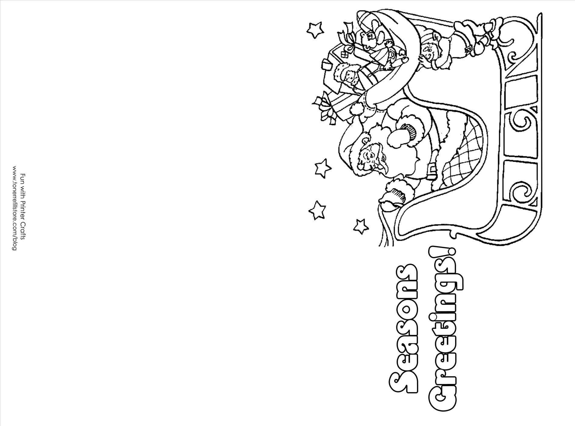 stocking coloring page - christmas card kitten draw so cute coloring pages