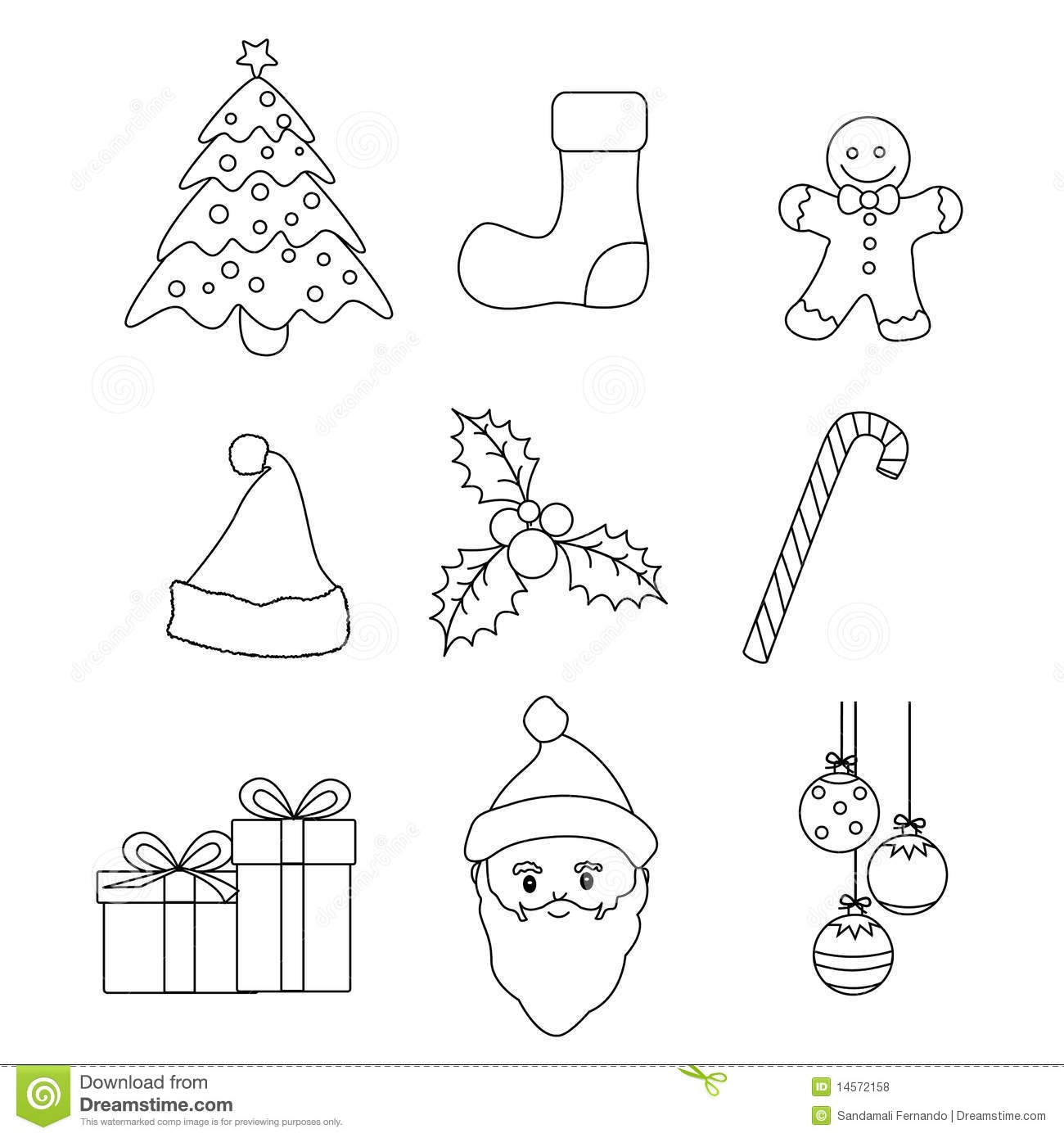 stocking coloring page - royalty free stock photos christmas icons vector image