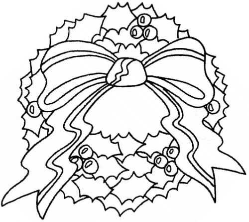 stocking coloring page - corona di natale index