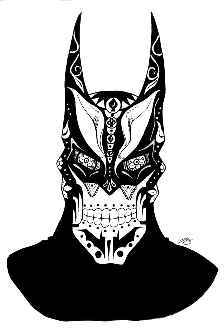 Storm Trooper Coloring Page - Batman Sugar Skull 1 by Newthundera On Deviantart