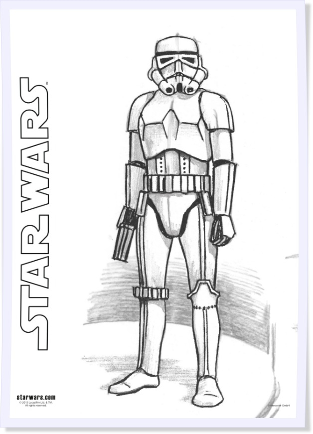 storm trooper coloring page - zum star wars tag