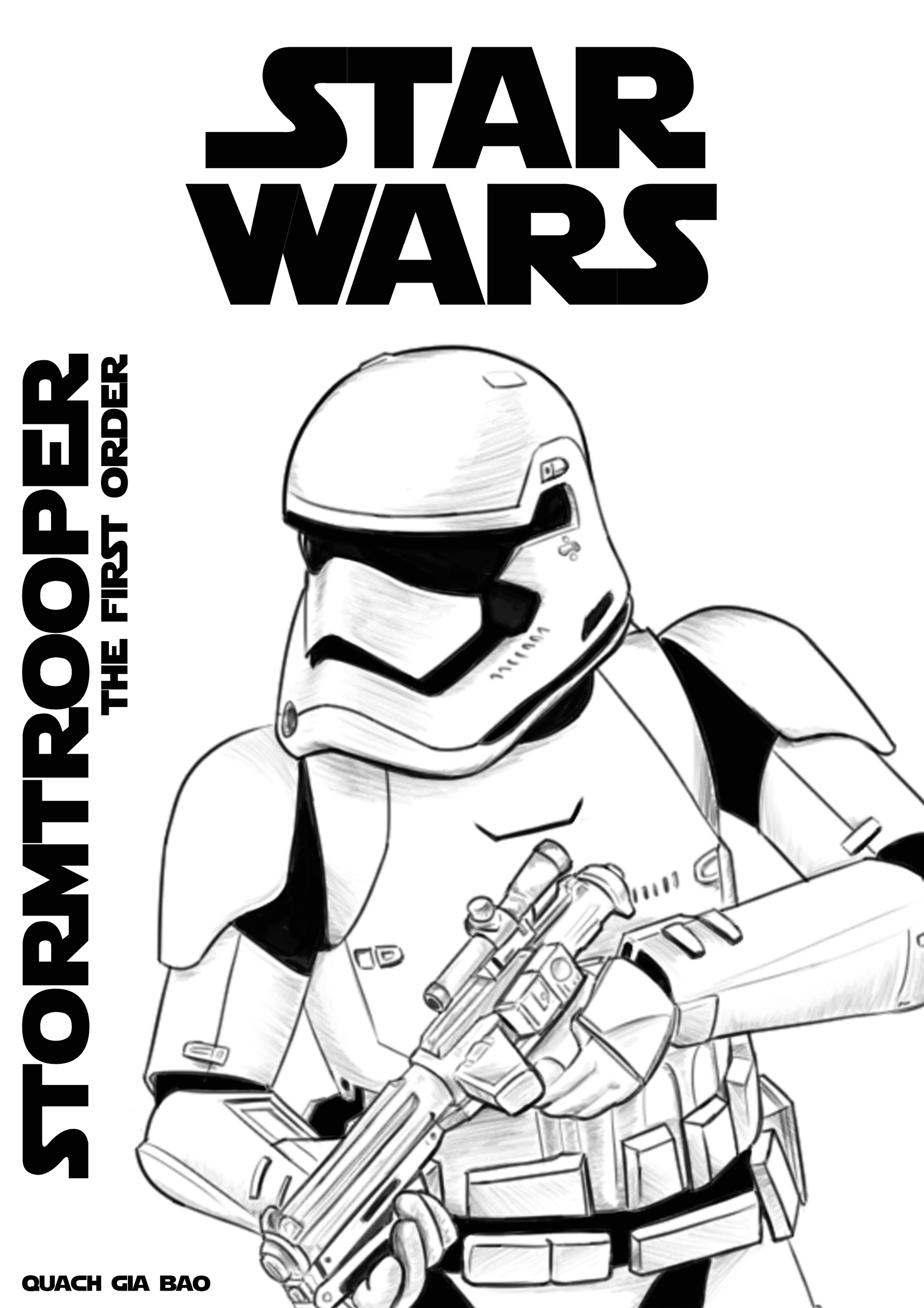 Stormtrooper Coloring Page - Artstation Sketch Firstorder Stormtrooper Guo Jiabao