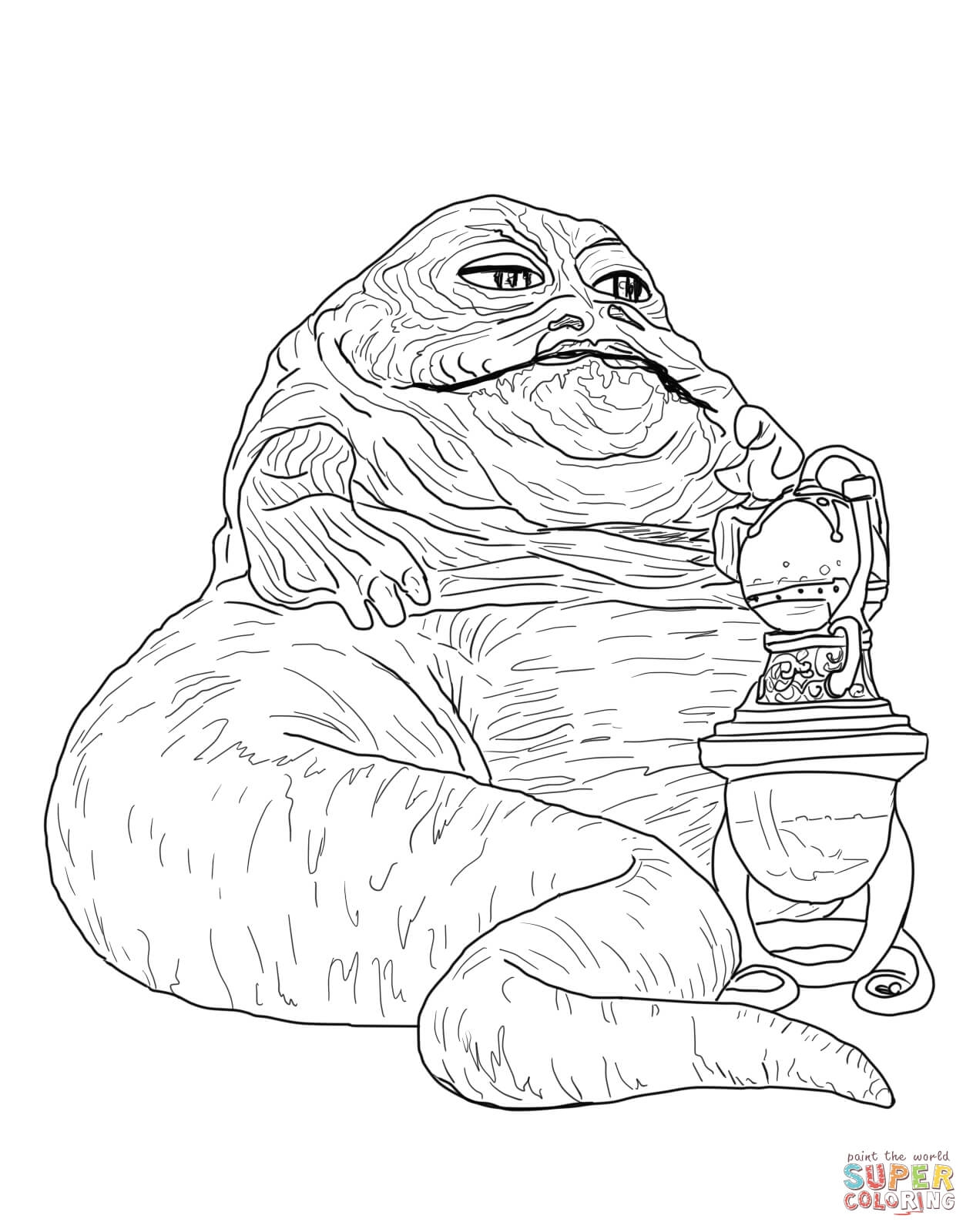 stormtrooper coloring page - jabba le hut