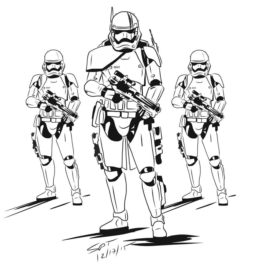 stormtrooper coloring page - First Order Arc Trooper Concept