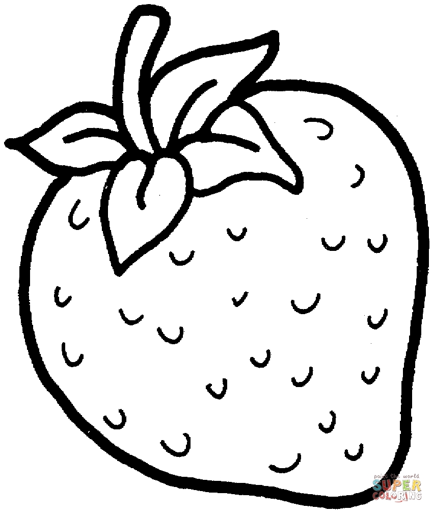 strawberry coloring page - sweet strawberry