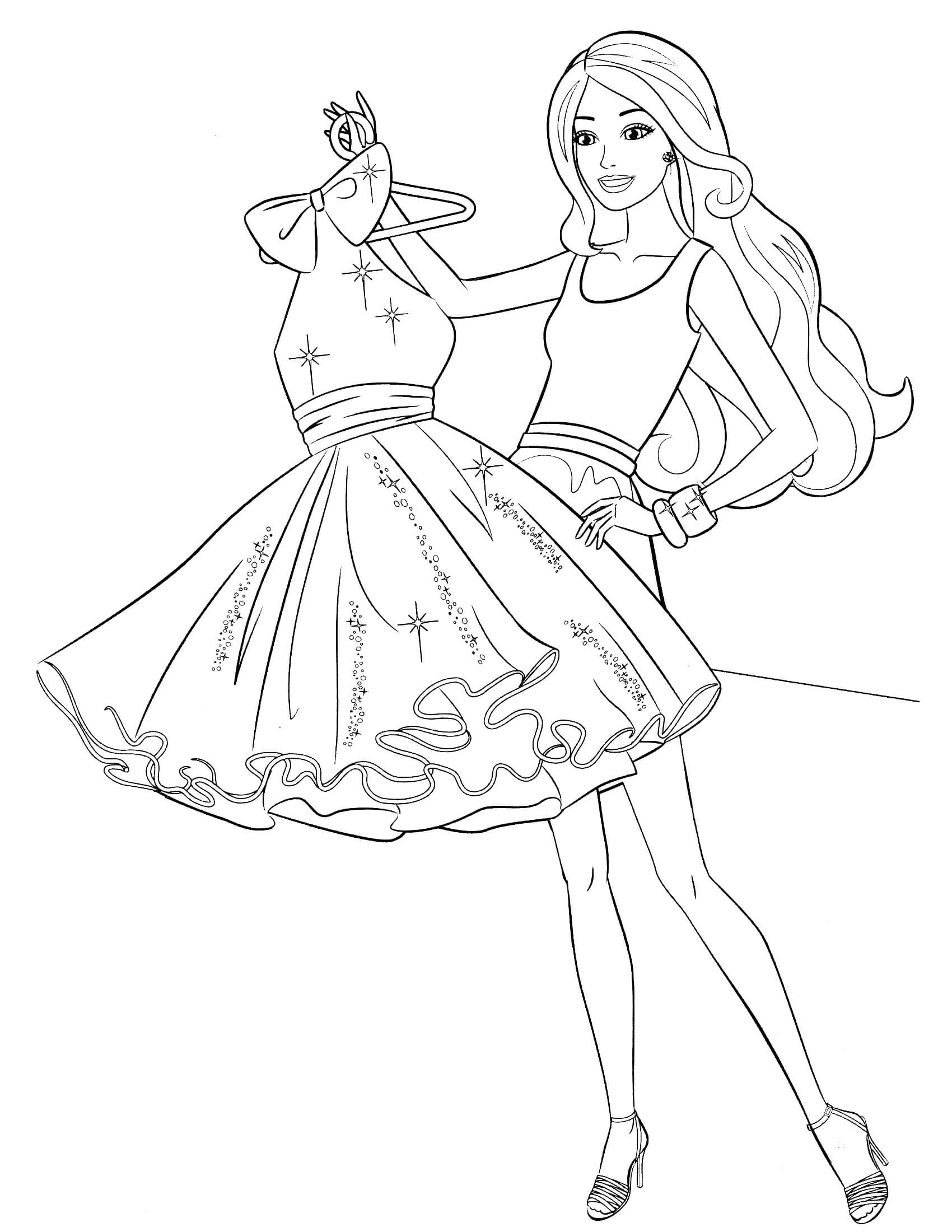 strawberry shortcake coloring pages - barbie coloring page 38