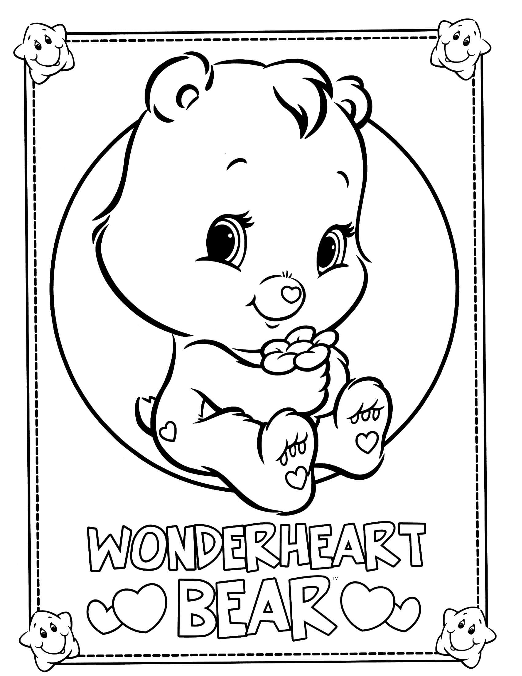 strawberry shortcake coloring pages - care bears coloring page 34