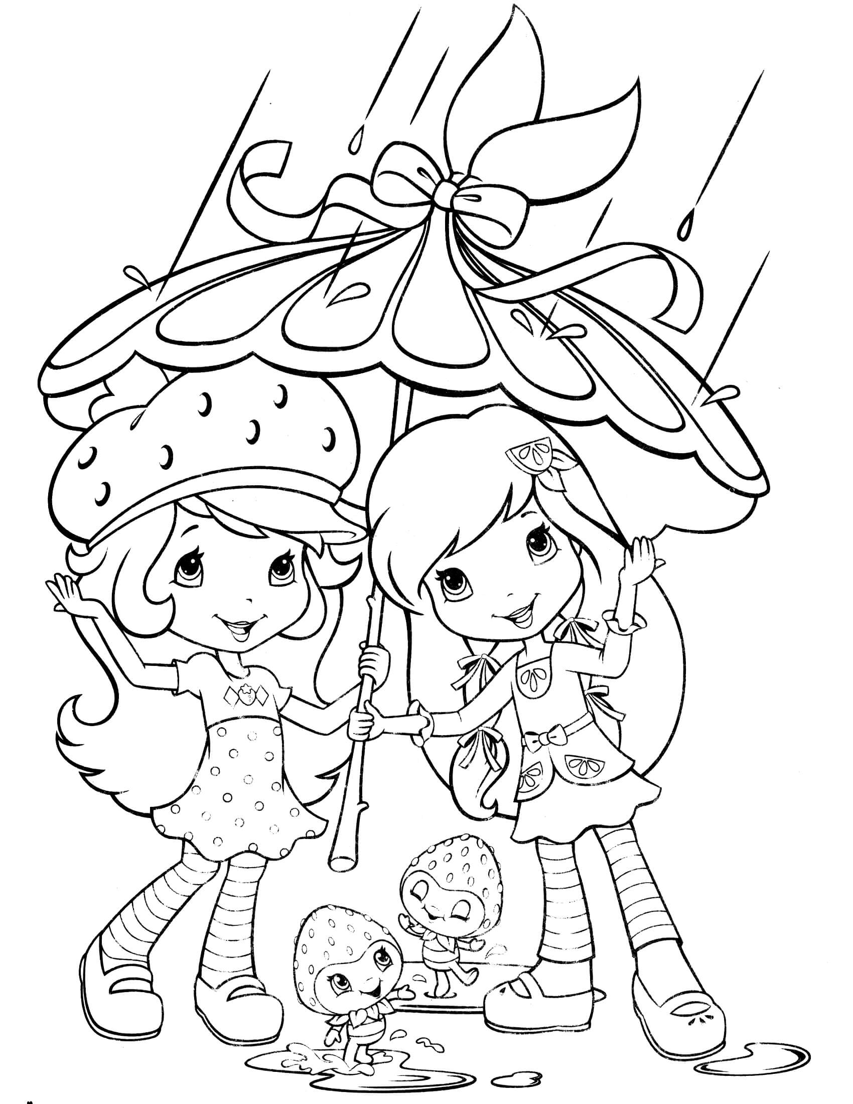 strawberry shortcake coloring pages - strawberry shortcake coloring page 20