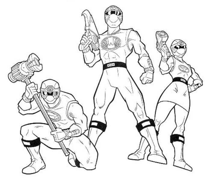 Stress Coloring Pages - Power Rangers 101 Super Héros – Coloriages à Imprimer