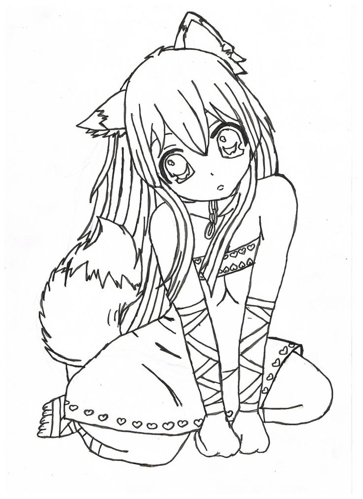 stress free coloring pages - anime coloring