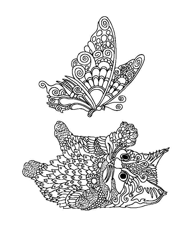 stress relief coloring pages - fox coloring book stress relief sketch templates
