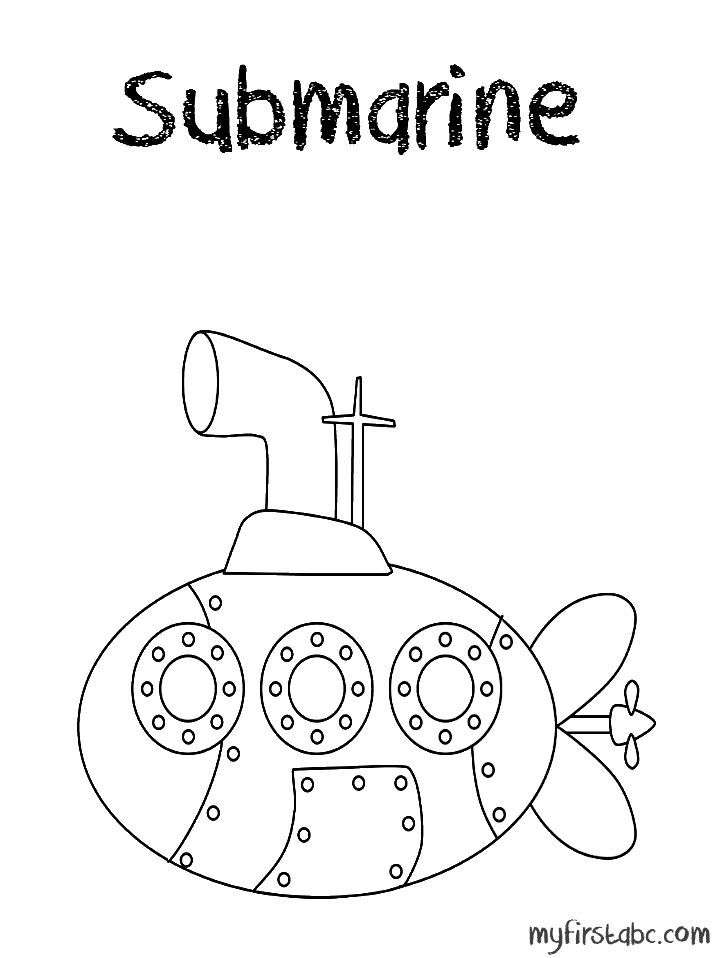 submarine coloring pages - beatles yellow submarine coloring page