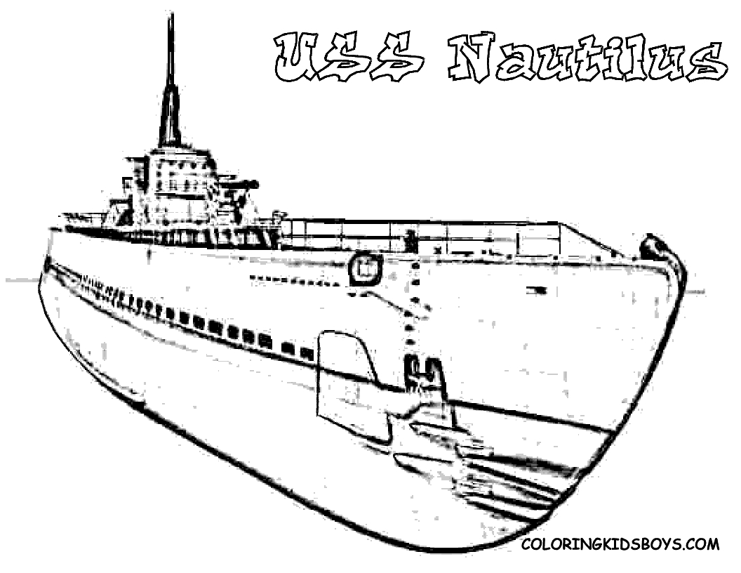 25 Submarine Coloring Pages Pictures | FREE COLORING PAGES - Part 2
