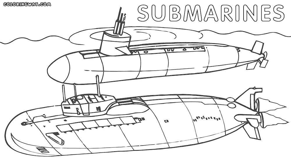submarine coloring pages - submarine coloring pages to print