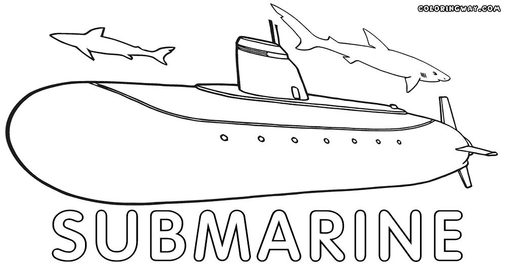 submarine coloring pages - submarine coloring pages