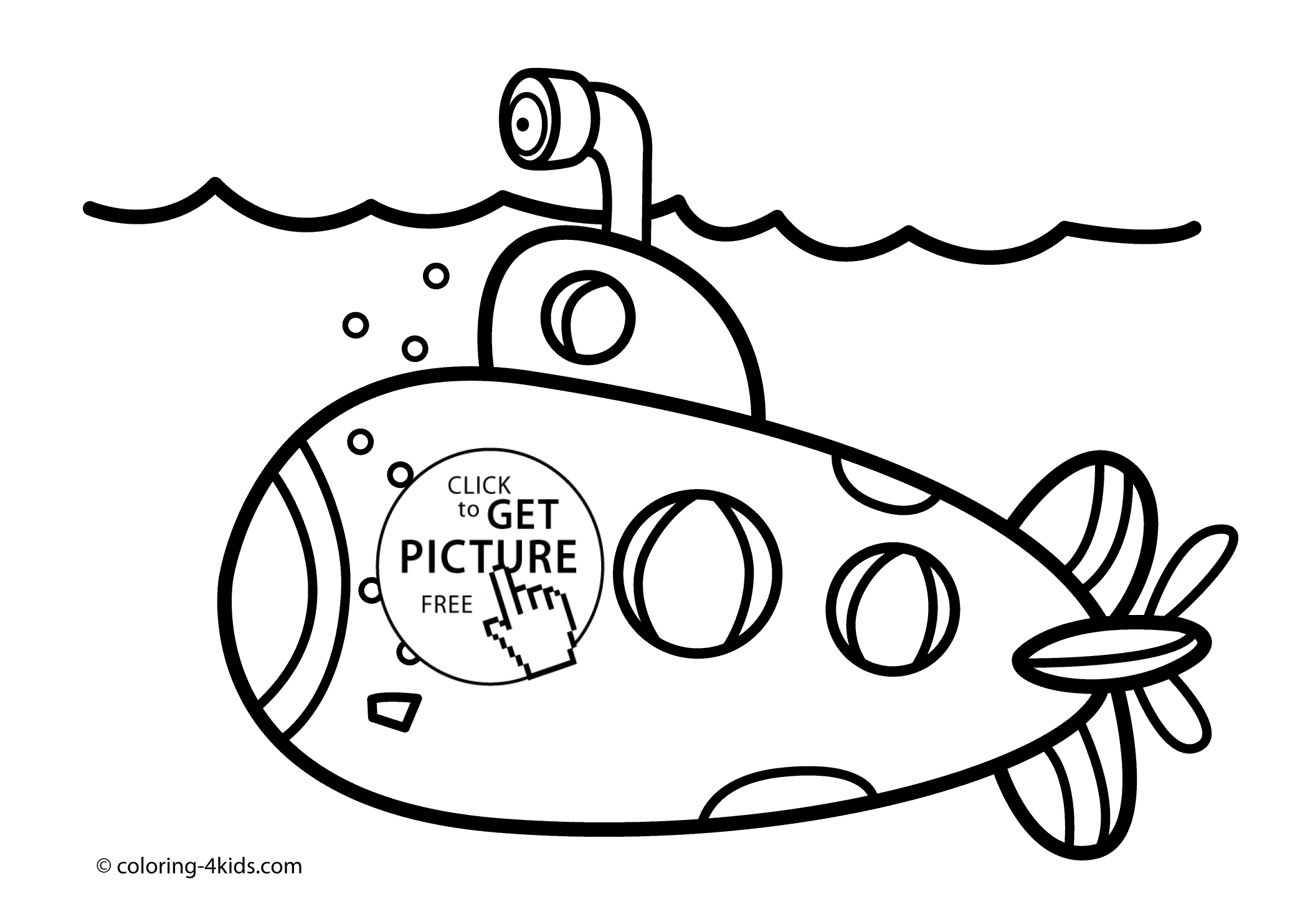 submarine coloring pages - submarine transportation coloring pages for kids printable free
