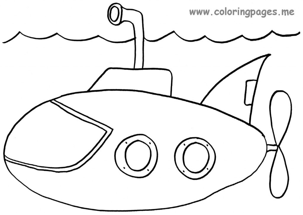 submarine coloring pages - yellow submarine coloring pages