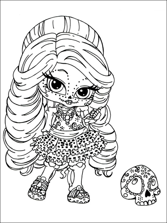 sugar skull coloring pages for adults - monster high