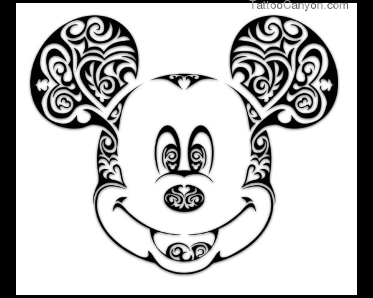 sugar skull coloring pages - stencil mickey mouse