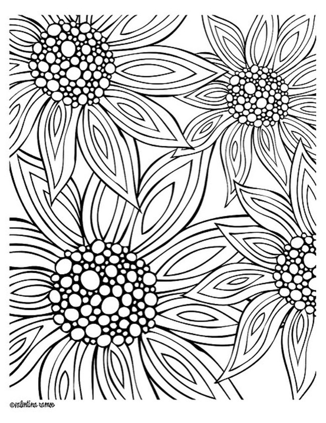 Summer Coloring Pages for Adults - 12 Free Printable Adult Coloring Pages for Summer