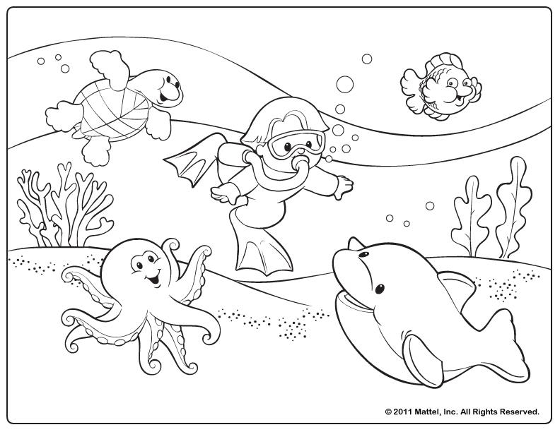 summer fun coloring pages - fun summer coloring pages