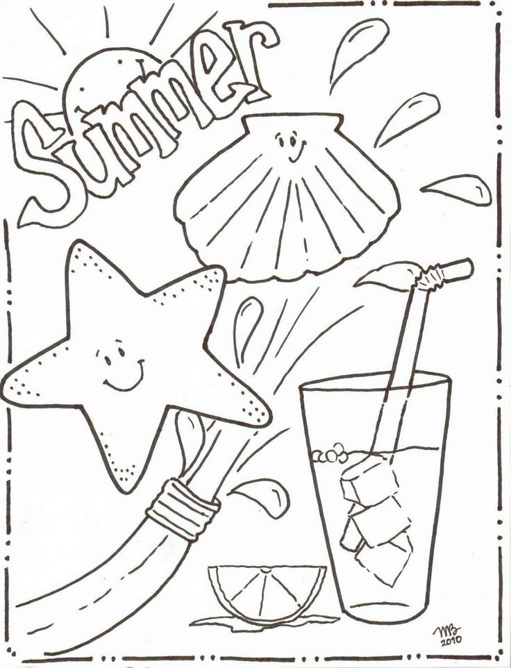 summer fun coloring pages - summer coloring pages