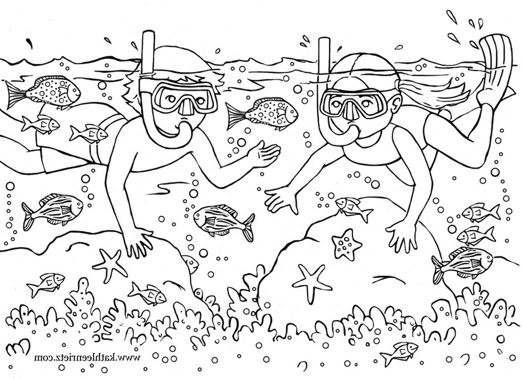 Summer Fun Coloring Pages - Summer Holiday Free Colouring Pages