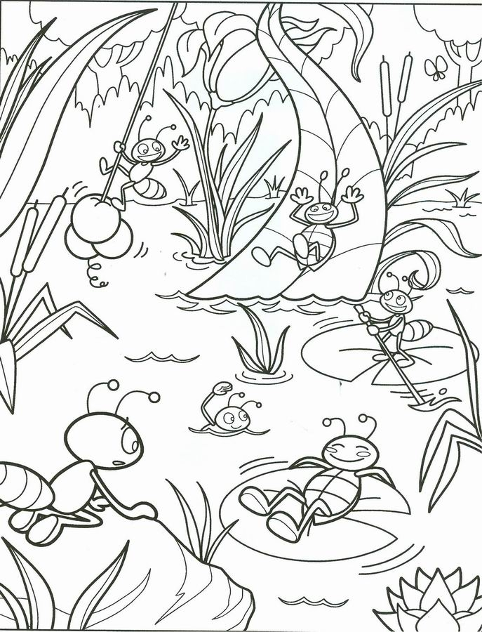 summertime coloring pages - ete