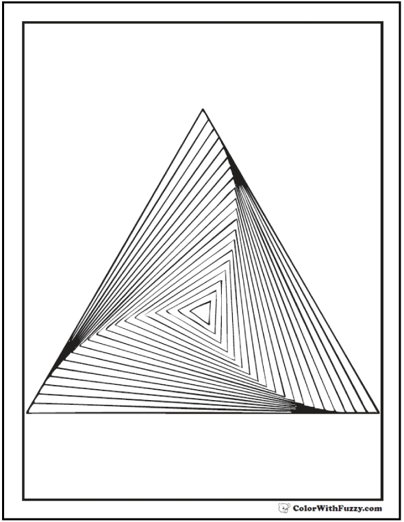 sun and moon coloring pages - geometric coloring pages
