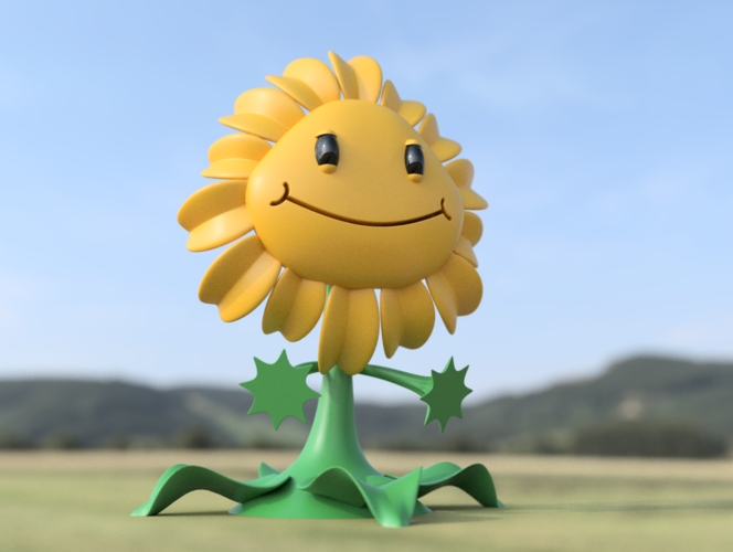 sunflower coloring page - 3d printed sunflower plants vs zombies gw2
