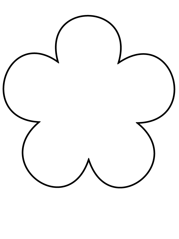 sunflower coloring page - flower petal template printable