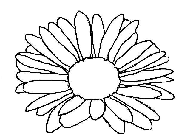 sunflower coloring page - kids drawing of daisy flower coloring page