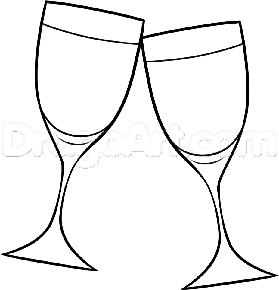 sunglasses coloring page - how to draw wine glasses