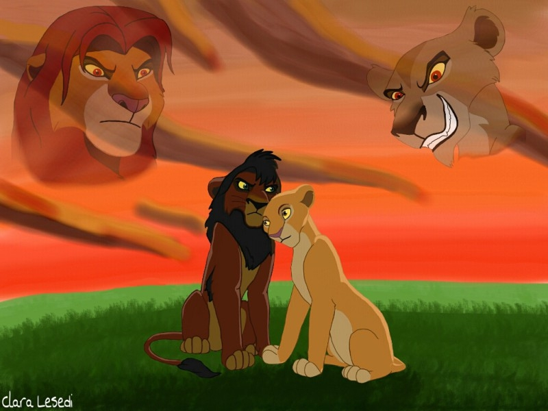 sunset coloring pages - The Lion King 2