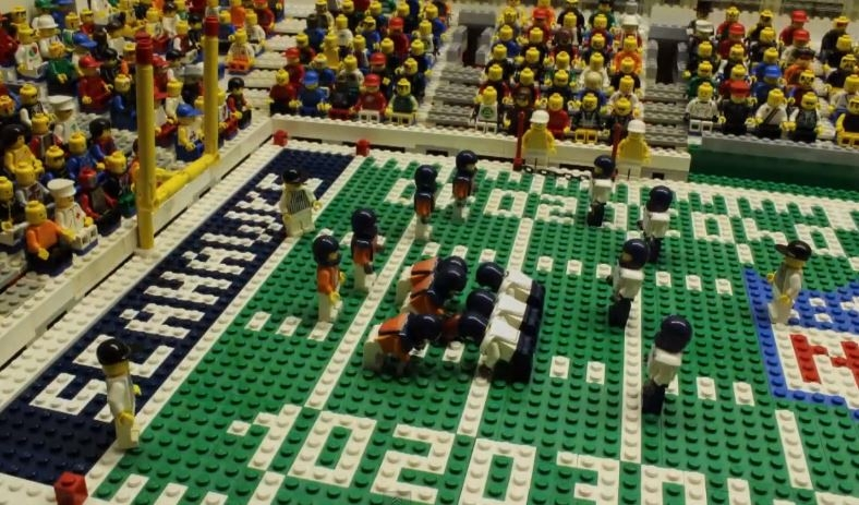 Super Bowl Coloring Pages - A Brick by Brick Lego Reconstruction Of the Super Bowl