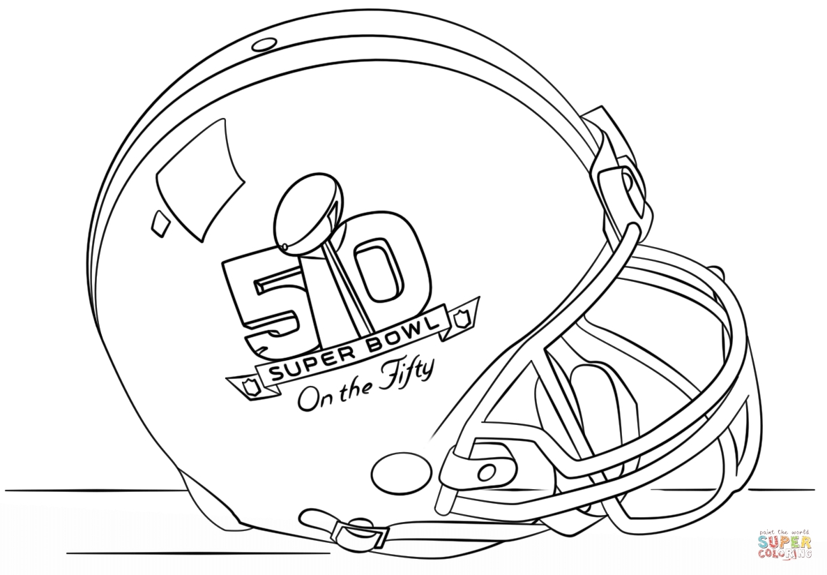 super coloring pages - super bowl 2016 helmet