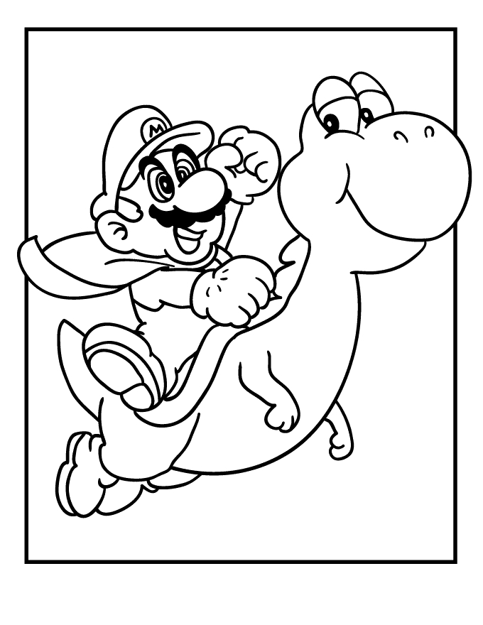 super coloring pages - super mario coloring pages