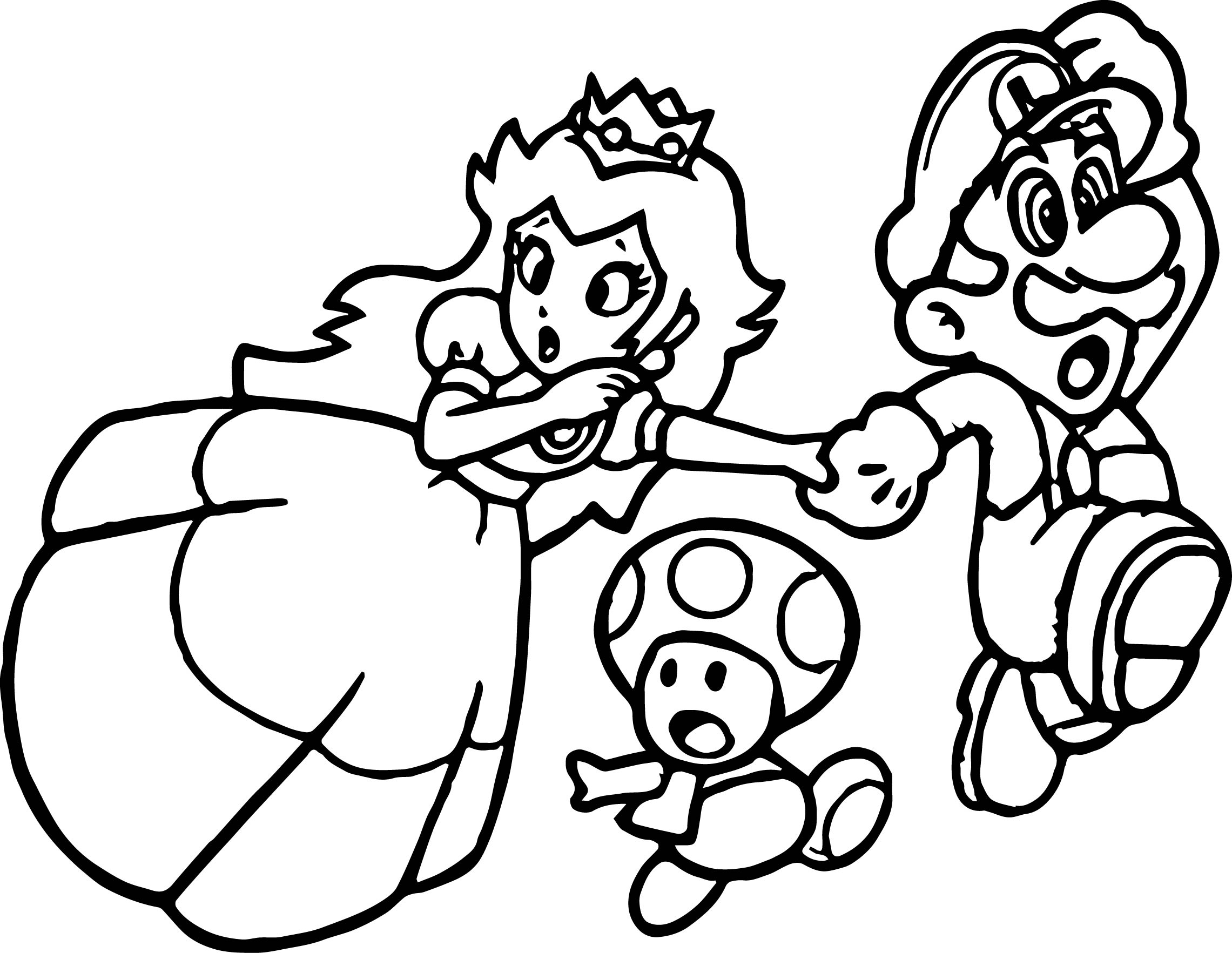 super coloring pages - super mario princess mushroom coloring page