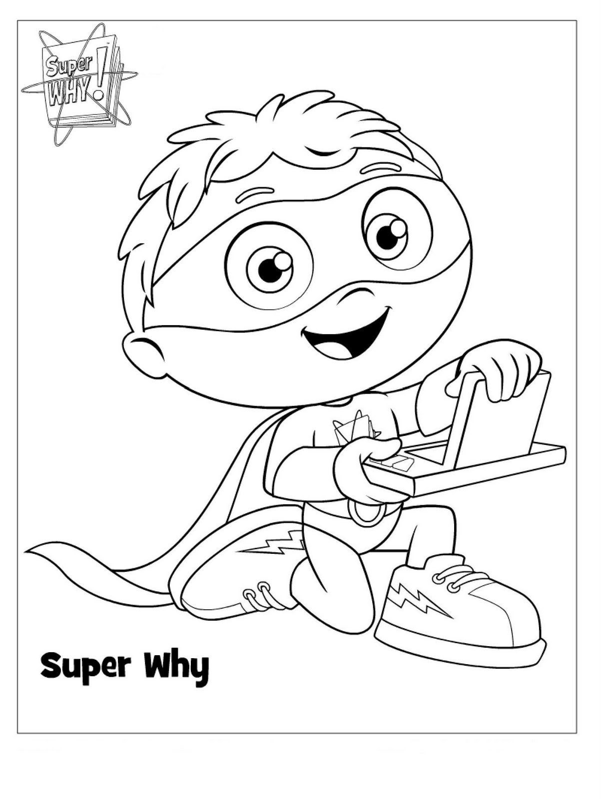 super coloring pages - super why coloring