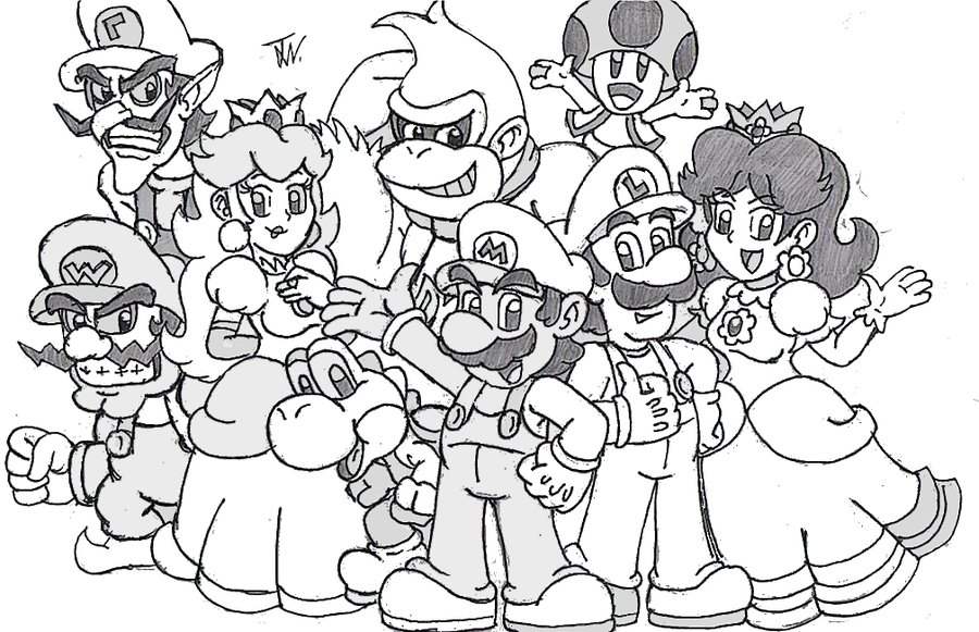 super mario bros coloring pages - Tutti i personaggi di Super Mario stampali e colorali adesso